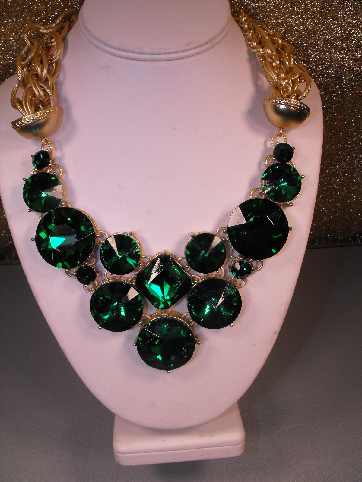 Emerald Green Lucite Fashion Necklace Clive S Unique Jewelry