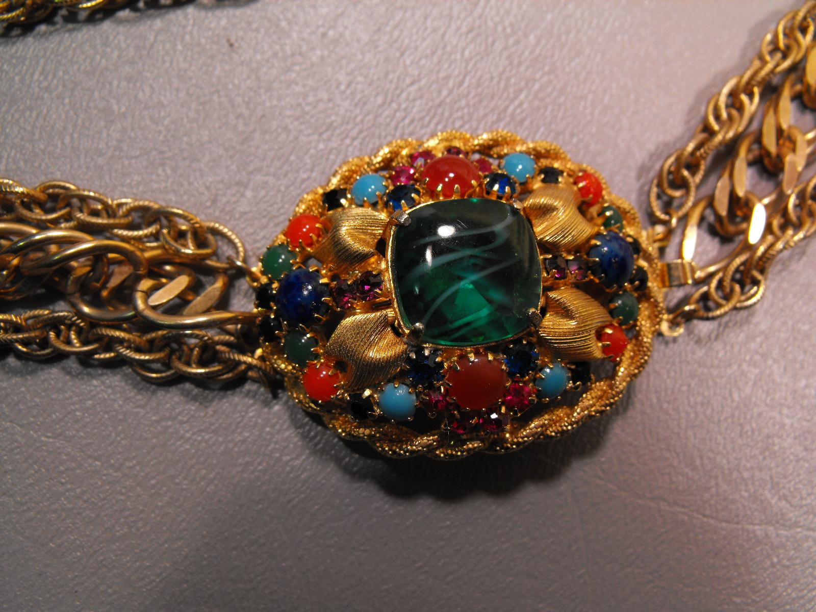 Hobe Necklace W Cabochon Clasp Clive S Unique Jewelry