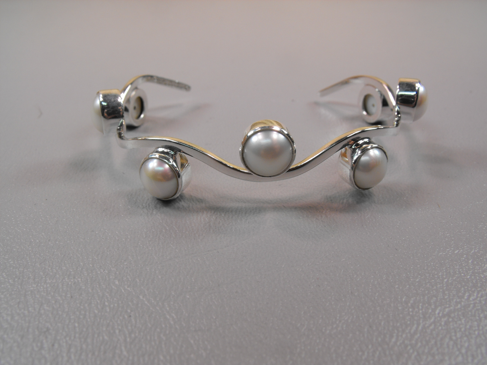 Pearl Amp Sterling Silver Bracelet Clive S Unique Jewelry