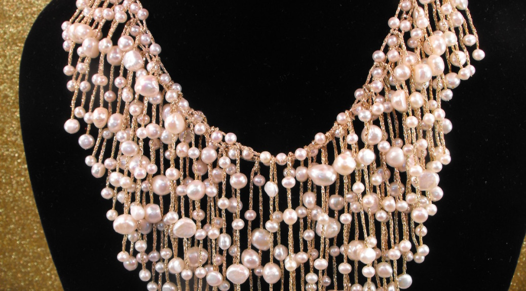 Freshwater Pearl Necklace Waterfall Design Clive S