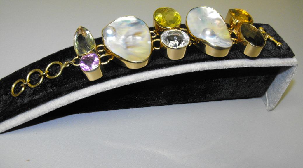 Charles Albert Citrine Amp Mabe Pearl Bracelet Clive S