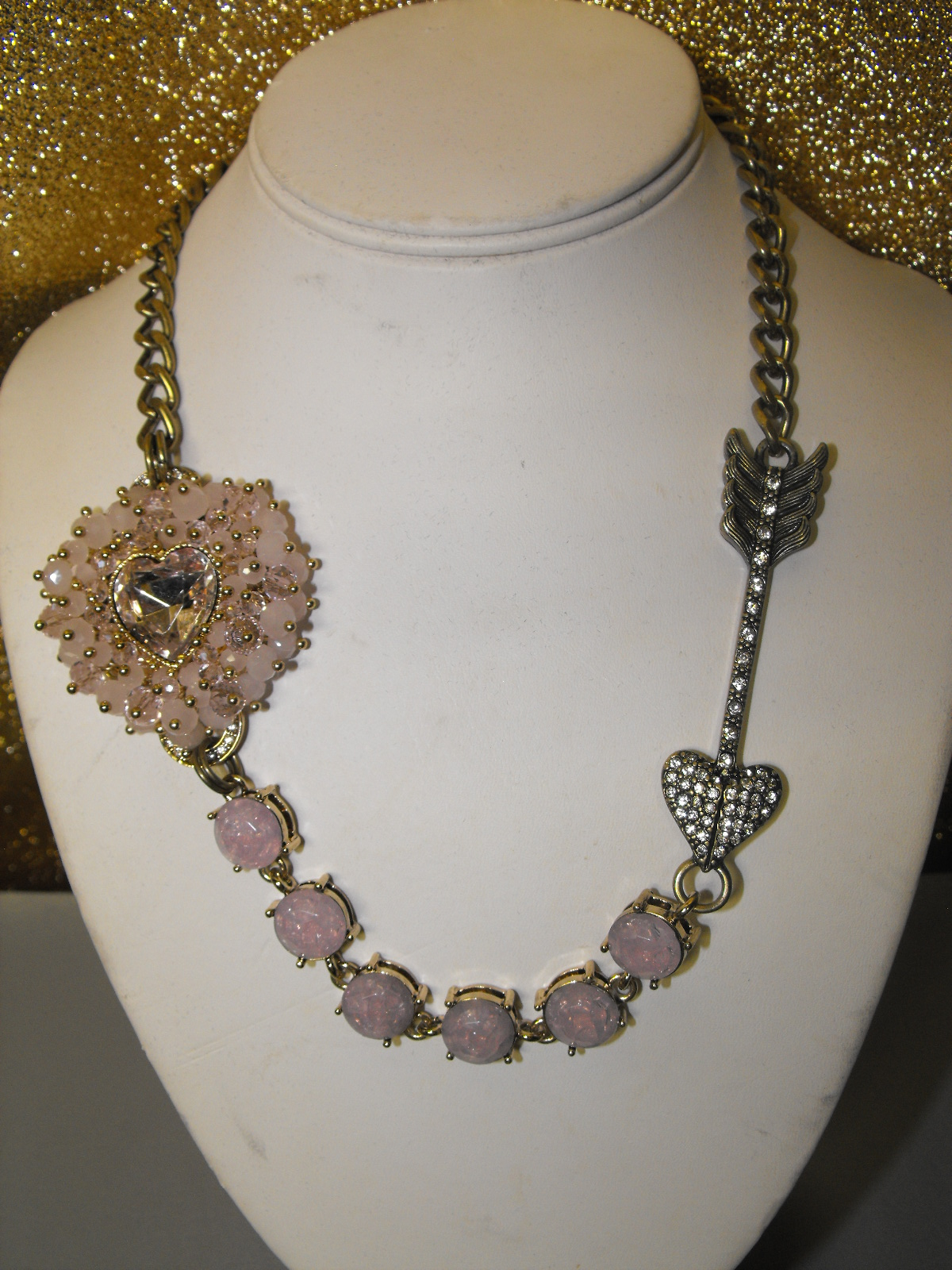 Betsey Johnson Signed Heart Necklace Clive S Unique Jewelry