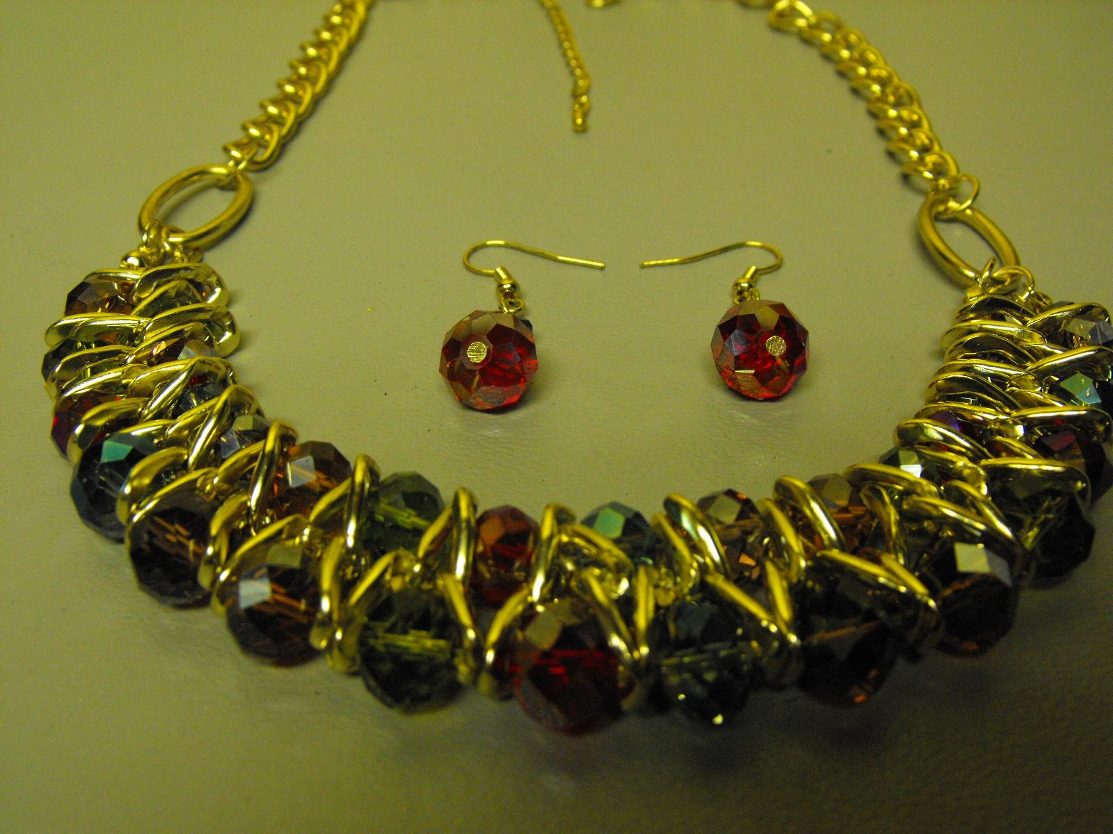 Multi Color Aurora Borealis Crystal Necklace Clive S
