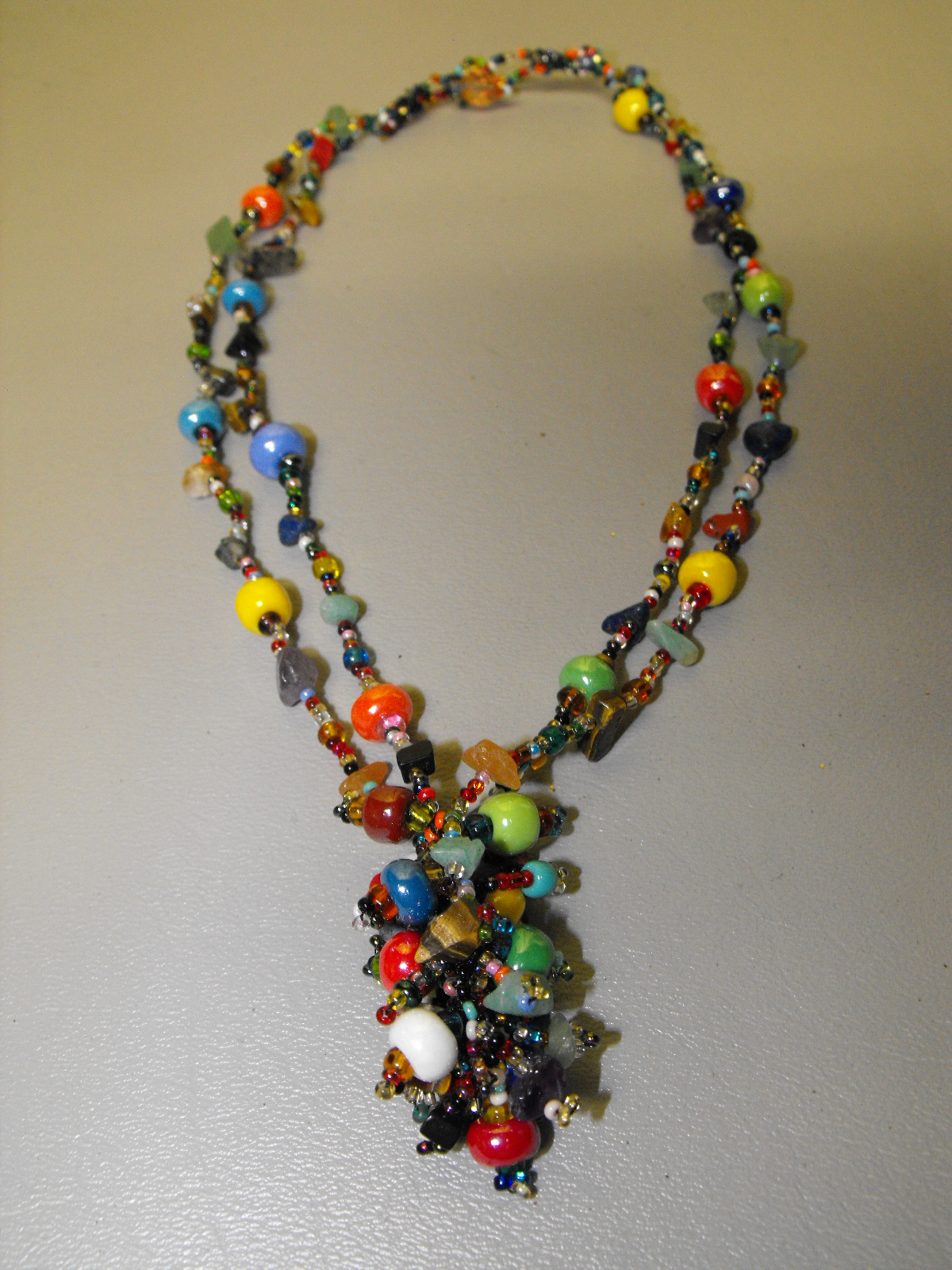 Guatemalan Artisan Crafted Glass Amp Bead Necklace 2