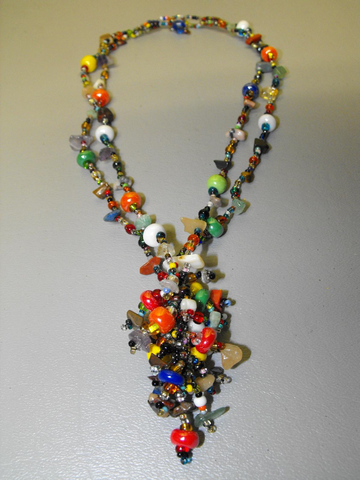 Guatemalan Artisan Crafted Glass Amp Bead Necklace 3
