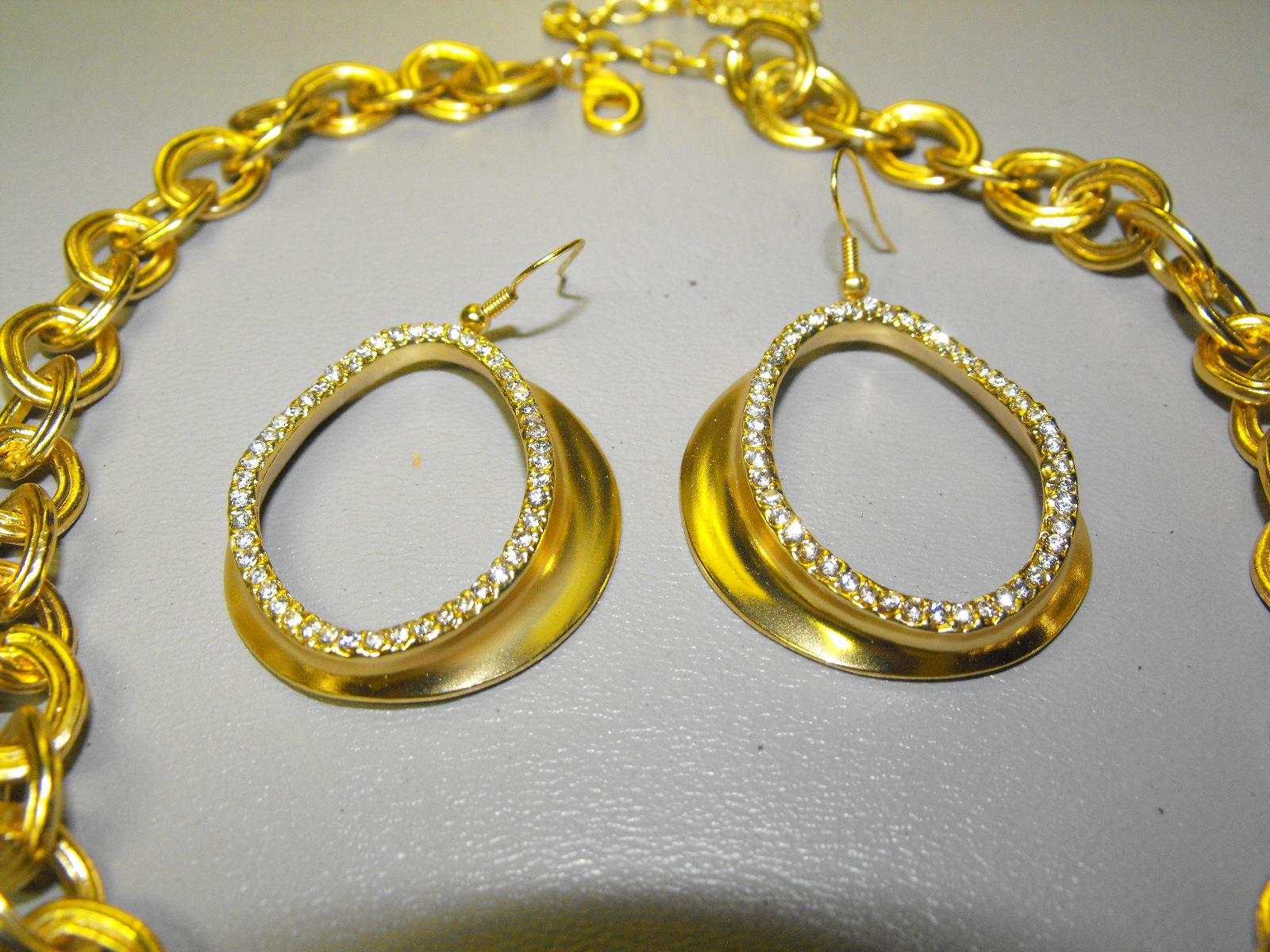 24 Kt Gold Plated French Designer Necklace Set Clive S