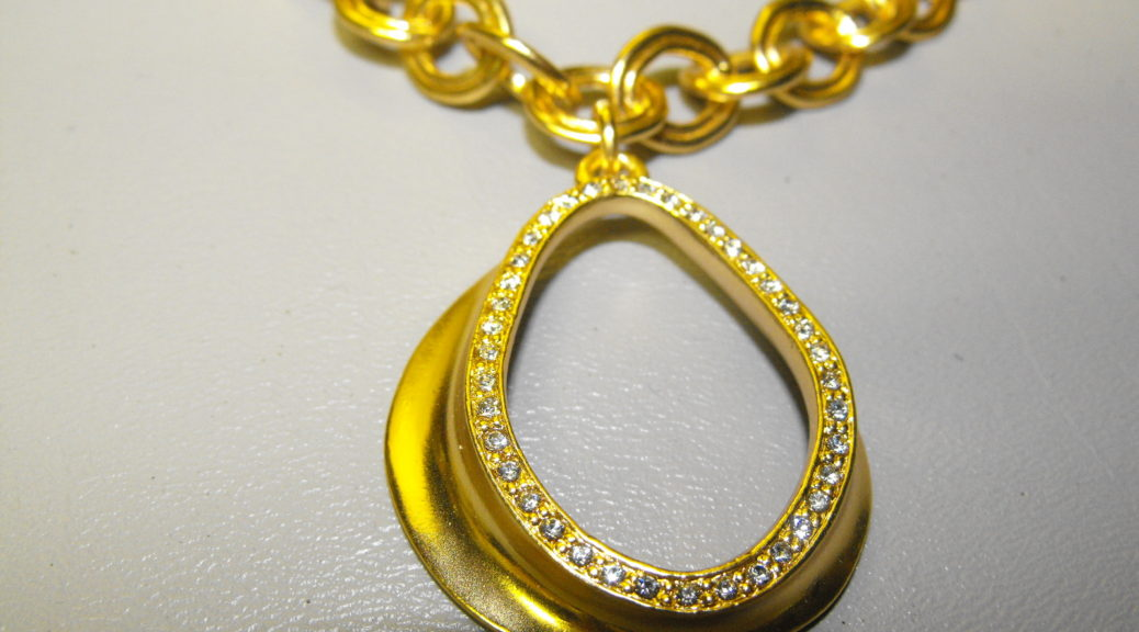 24 KT Gold Plated French Designer Necklace Set | Clive's ...