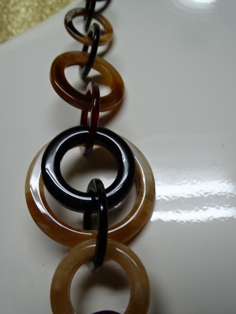 Multi Color Random Circle Acrylic Necklace Clive S